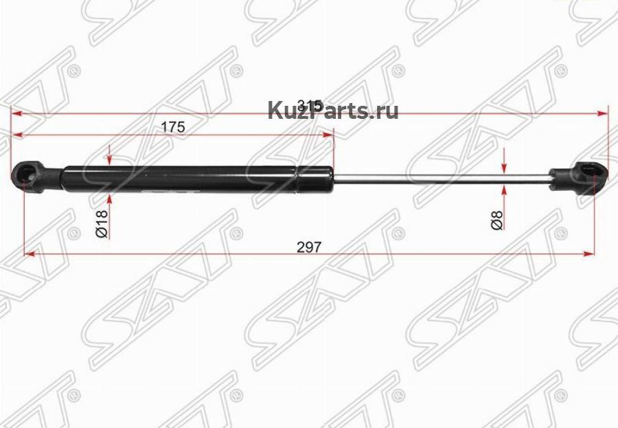 Амортизатор крышки багажника MERCEDES-BENZ S-CLASS W221 05