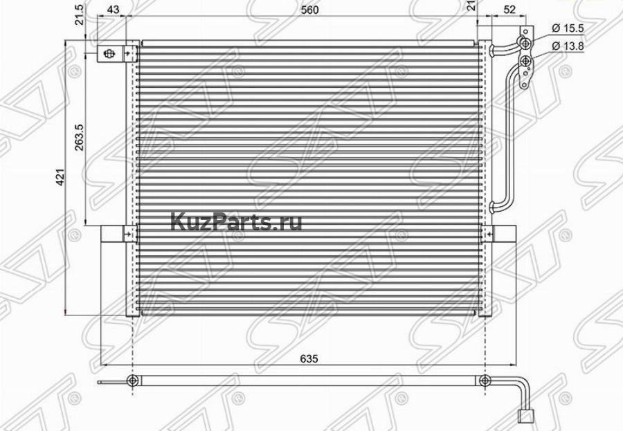Радиатор кондиционера BMW 3-SERIES E46 98-05 / Z4 E85 02-09