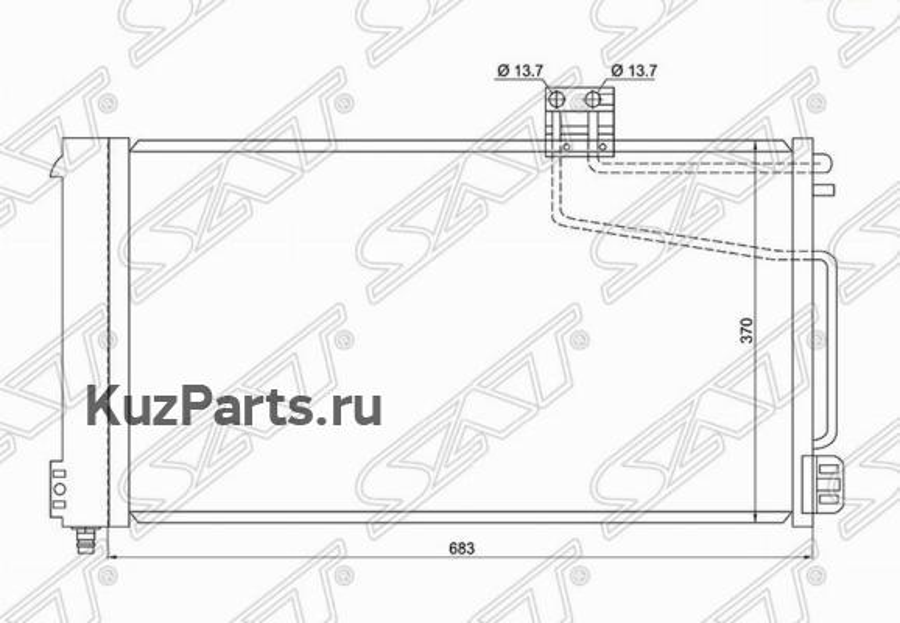 Радиатор кондиционера MERCEDES C-CLASS W203 00- / CLK-CLASS W209 02- / SLK-CLASS W 171 04