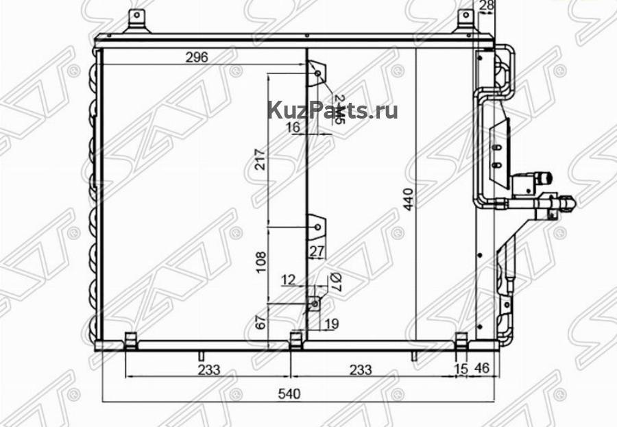Радиатор кондиционера MERCEDES E-CLASS W124 85-95
