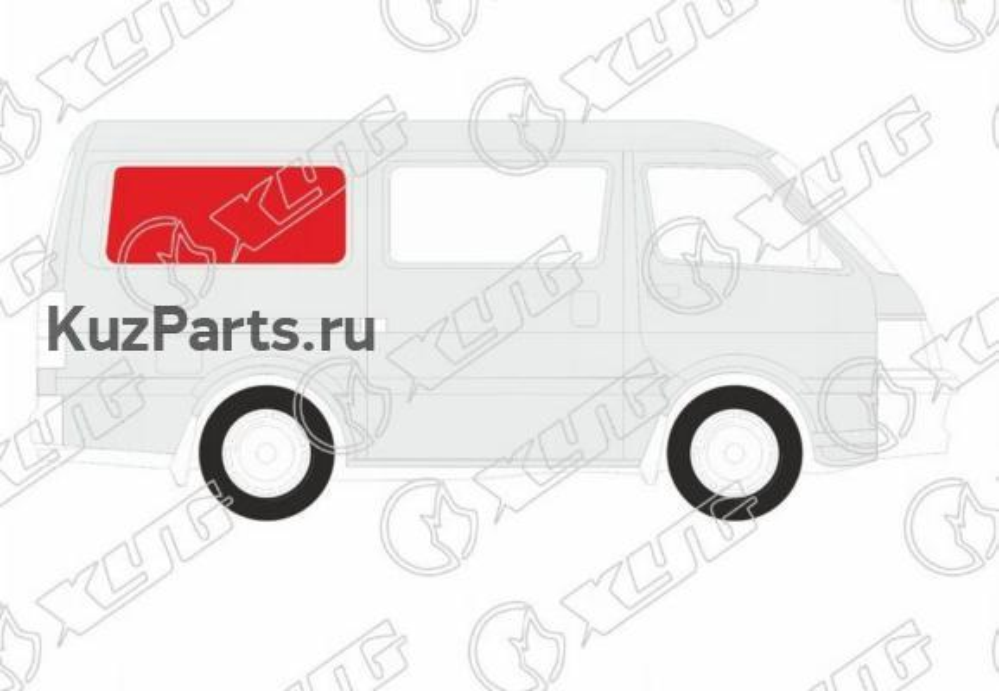 Стекло кузова (собачник) заднее правое SUZUKI EVERY DA64W VAN 05-15