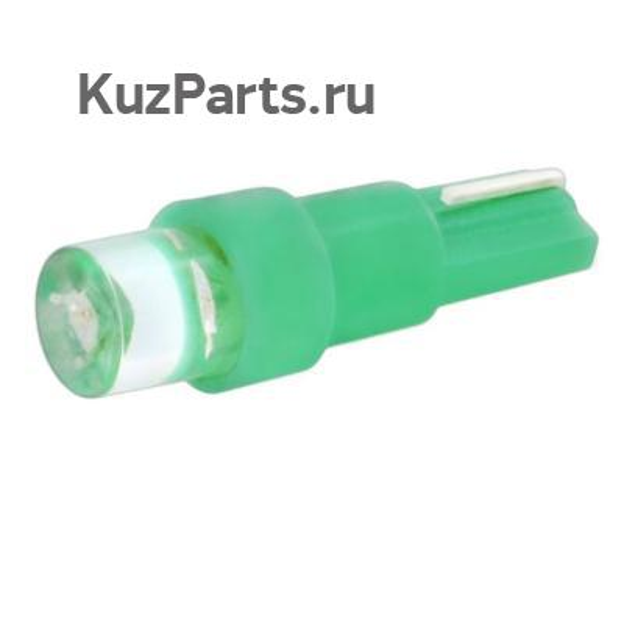 Автолампа диод T5 (W1,2W) 12V 1 LED диод 1-конт Зеленая SKYWAY Панель min10