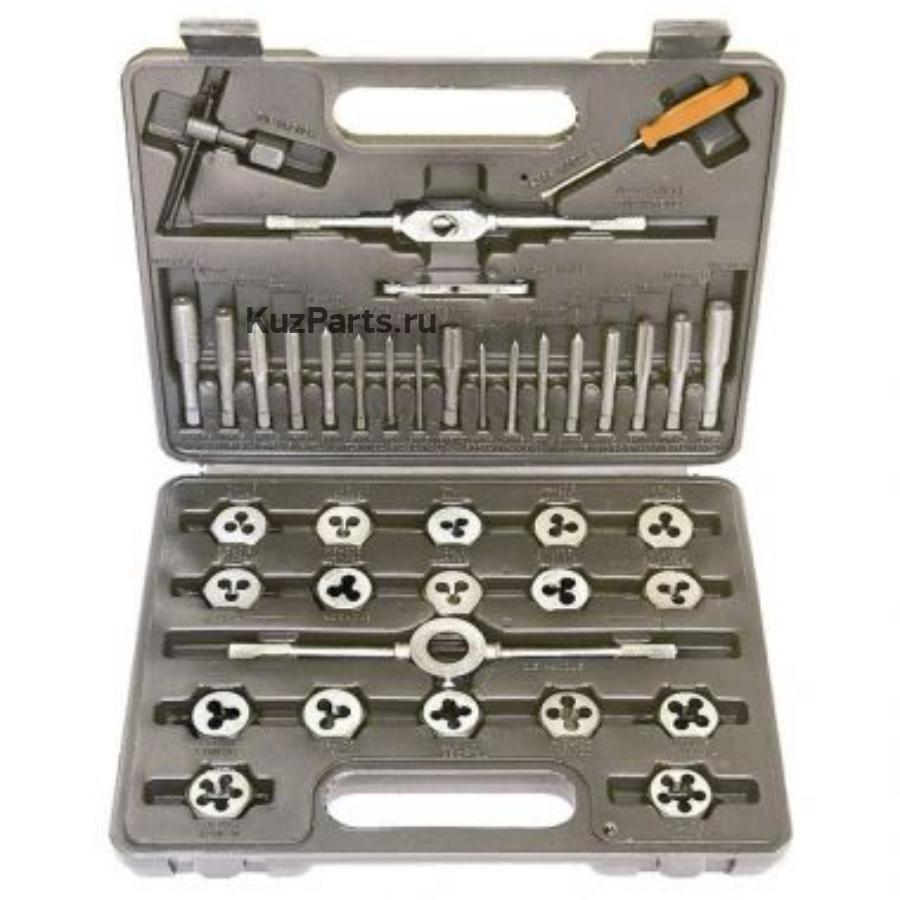 Набор метчиков и плашек М3 - М12, плашко-метчикодержатель, 40 предметов, в пласт. боксе SPARTA 773155