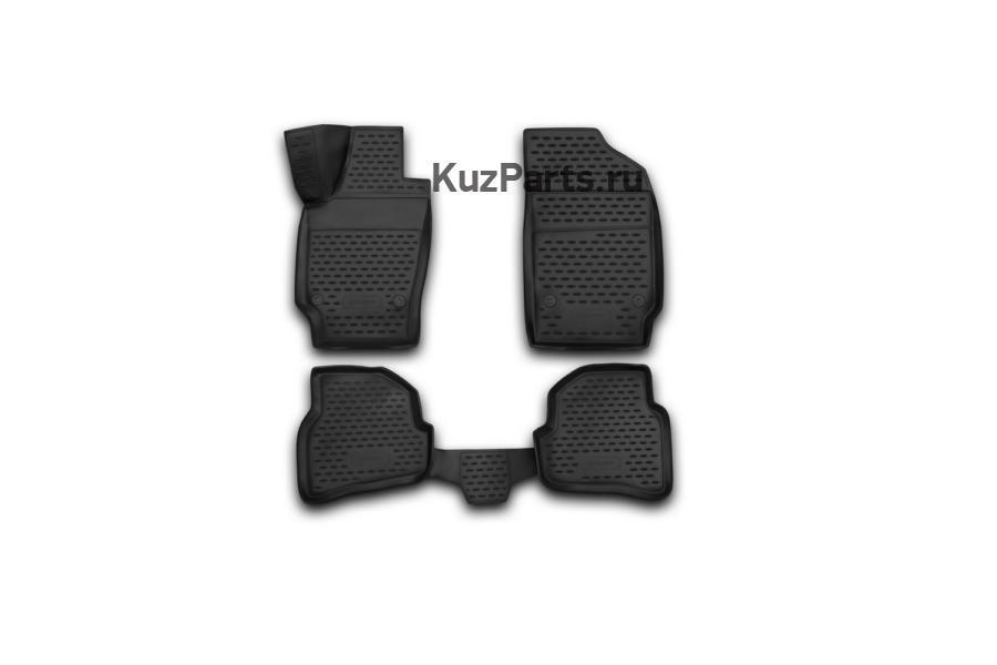 Коврики 3D в салон VW Polo 2010->, сед., 4 шт. (полиуретан)
