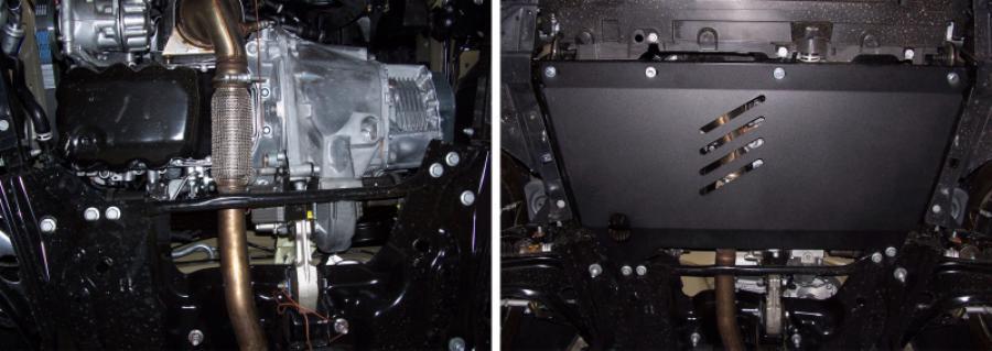 Защита картера и КПП Citroen C3 Picasso 2009-.../Peugeot 207 2006-..., сталь 2 мм, комплект крепежа