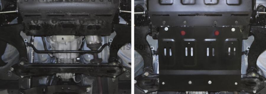 Защита КПП + комплект крепежа, Сталь, Lifan MyWay 2017-, V - 1.5Т; 1.8; задний привод