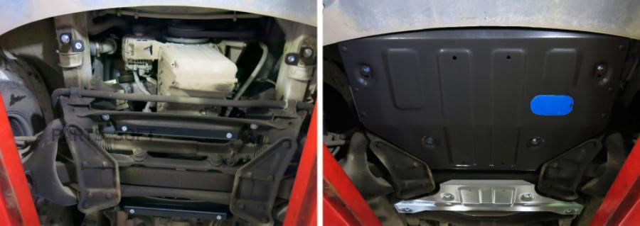 Защита картера и КПП Mercedes Benz Sprinter Classic 2013-..., сталь 2 мм, комплект крепежа