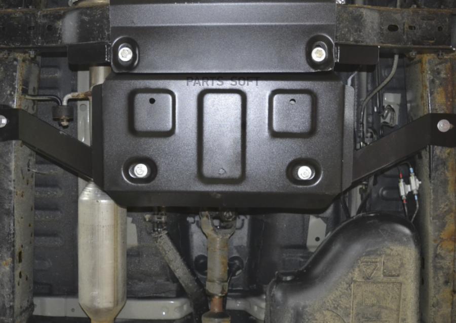 Защита РК + комплект крепежа, Сталь, Foton Tunland 2017-, V - 2.8d; полный привод/Foton Sauvana 2017-, V - 2.0; полный привод