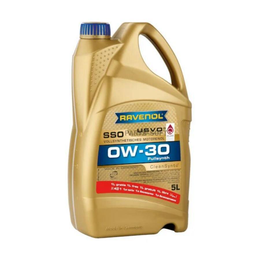 Масло моторное синтетическое SSO 0W-30, 5л
