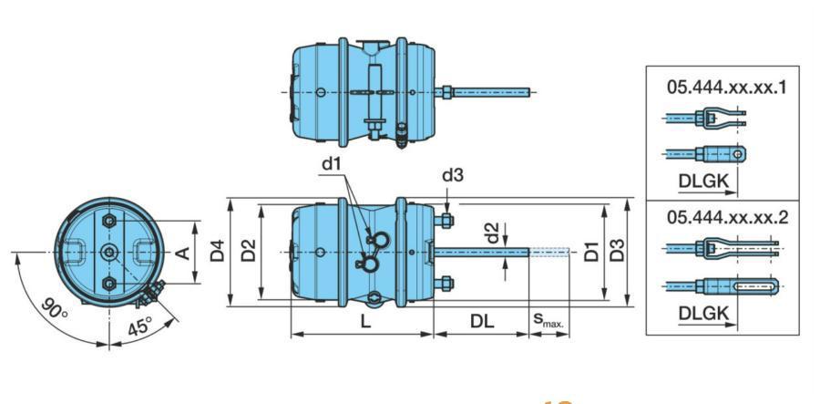 Комбинированный цилиндр гидравл. тормозного привода