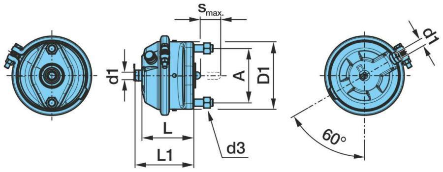 Тормозная пневматическая камера