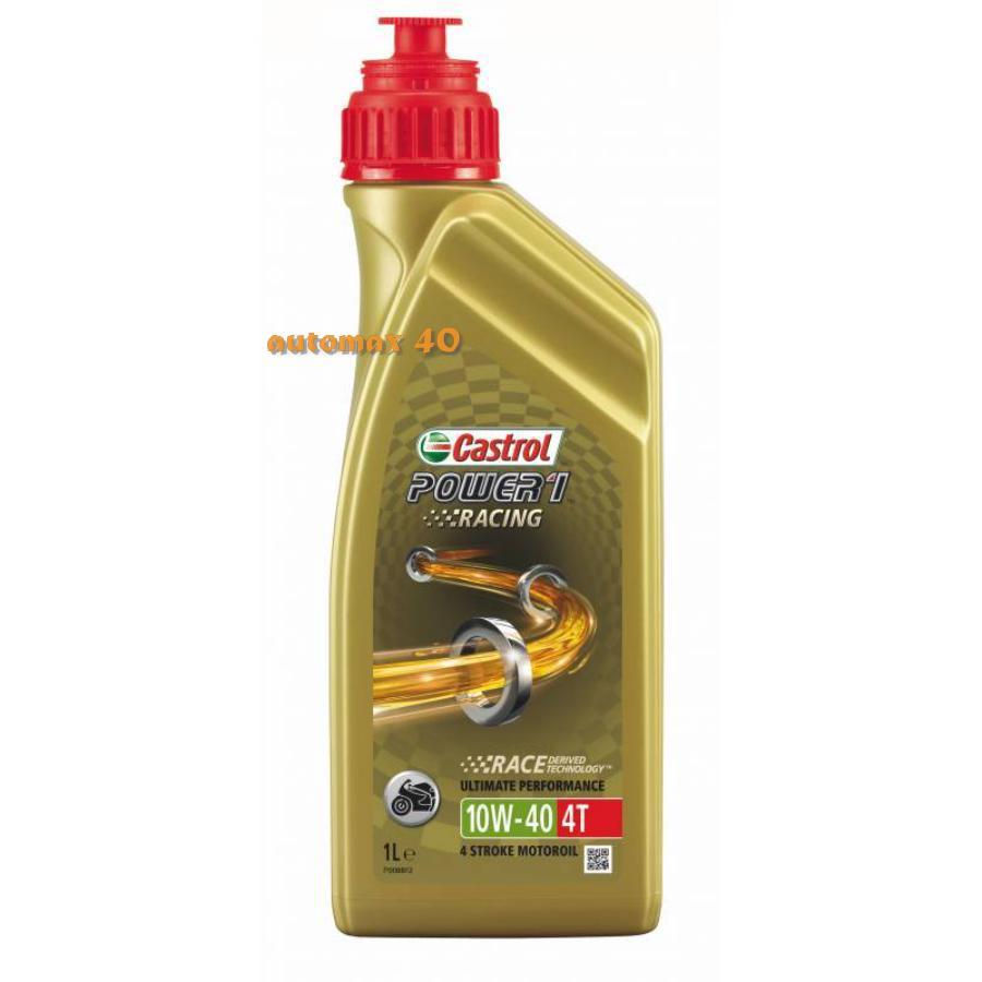 Моторное масло Castrol Power 1 Racing 4T 10W-40 синтетическое, 1 л