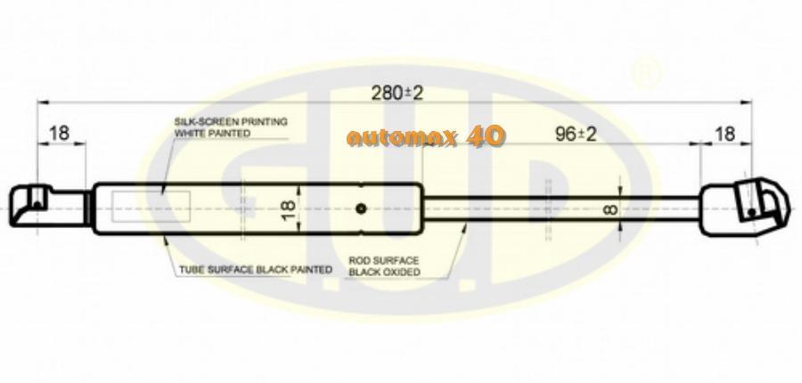 АМОРТИЗАТОР БАГАЖНИКА AUDI 80, 80 QUATRO (8C,B4) 0