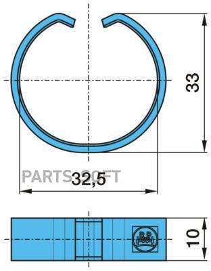 Кольцо С-образное колодки BPW D=33/30