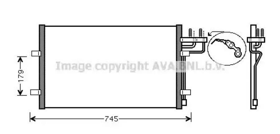 Радиатор кондиционера Ford Focus 08-> [628x374]
