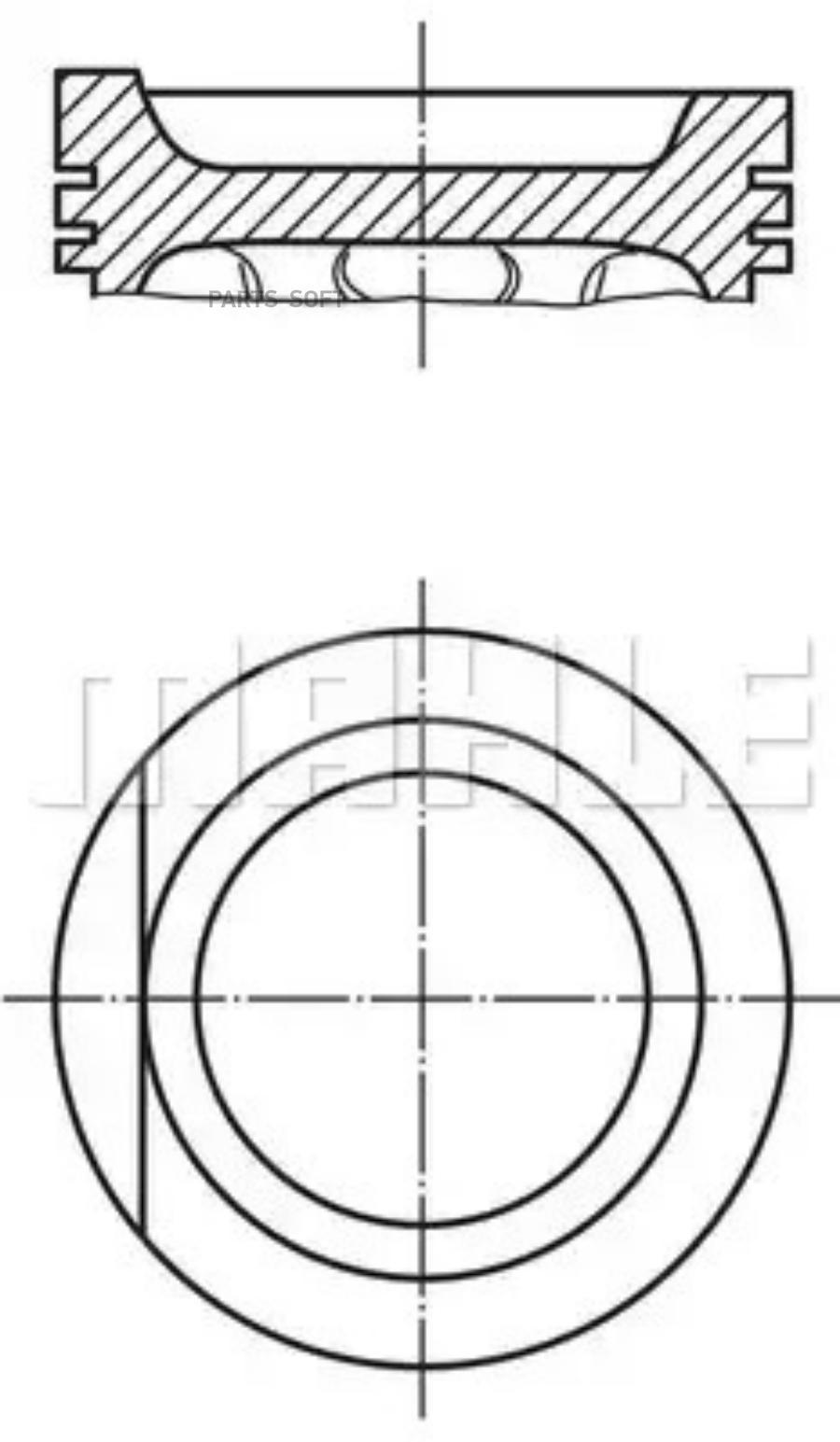 Поршень 81,0+0,50 (1F/EZ/RF/ABN/PN)