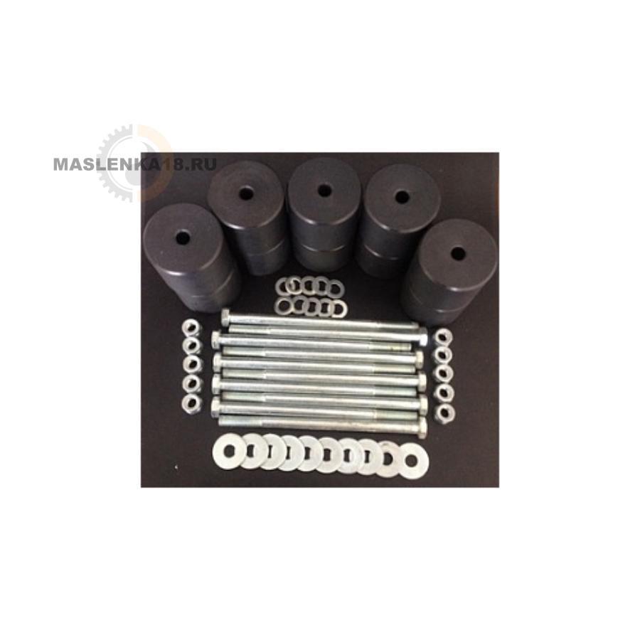Боди лифт комплект 65 мм УАЗ-452 капролон (d=70 мм) с кр-ом (8 б-ов М10х160 + 2 б-та М12х200) чёрн.ц