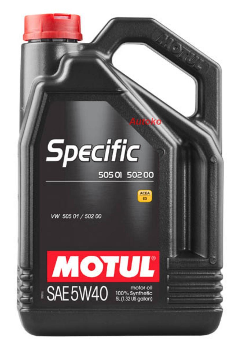 Масло моторное синтетическое Specific VW502,00-505,00-505,01 5W-40, 5л