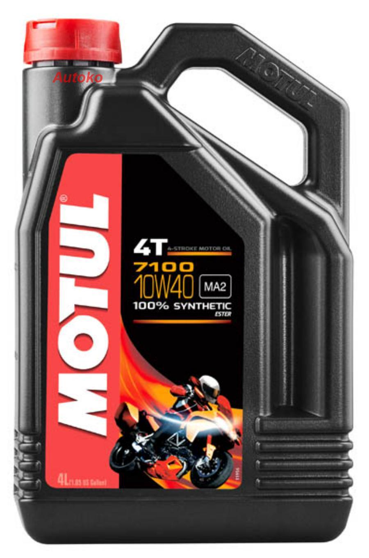 Масло моторное синтетическое 7100 4T 10W-40, 4л