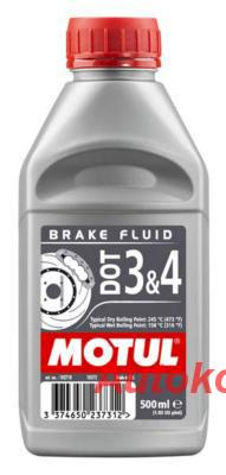 Жидкость тормозная DOT 3/4, 'BRAKE FLUID', 1л