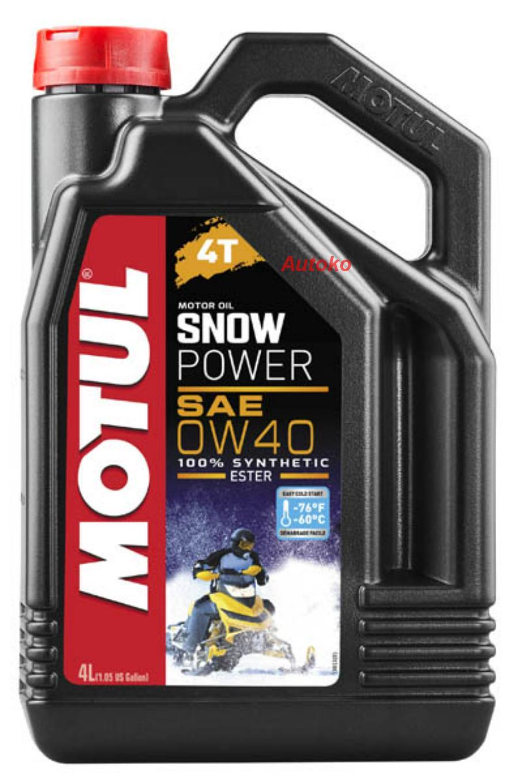 Масло моторное синтетическое Snowpower 4T 0W-40, 4л