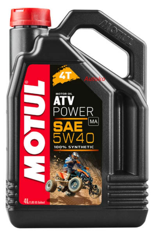 Масло моторное синтетическое ATV Power 4T 5W-40, 4л