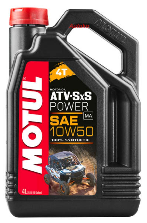 Масло моторное синтетическое ATV SXS Power 4T 10W-50, 4л
