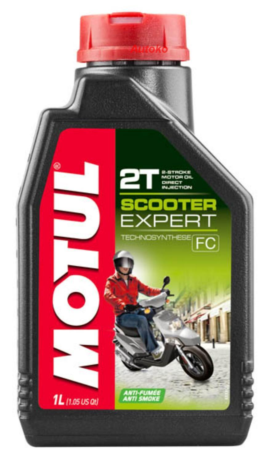 Масло моторное полусинтетическое Scooter Expert 2T, 1л