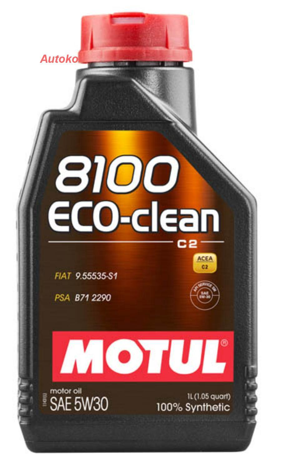 Масло моторное синтетическое 8100 Eco-clean 5W-30, 1л