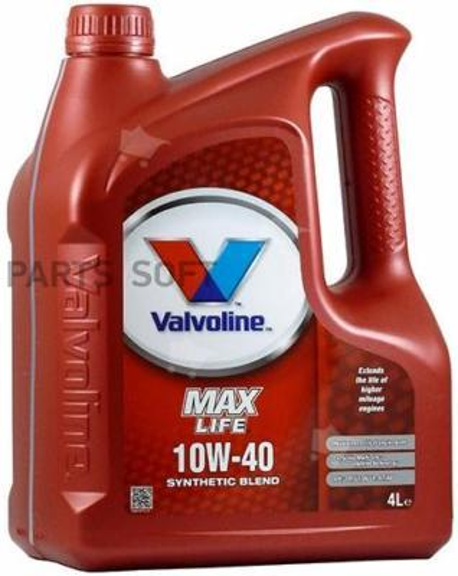 Масло моторное VALVOLINE MAXLIFE 10W-40 (4 л.)