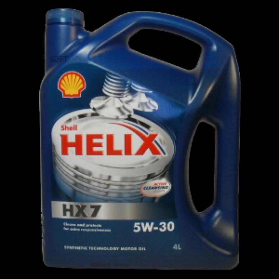 Масло моторное Шелл Хеликс HX 7 5W-30 (4 л.)