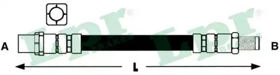 Шланг тормозной перед (BMW Е38) А21119 - М10х1х380мм
