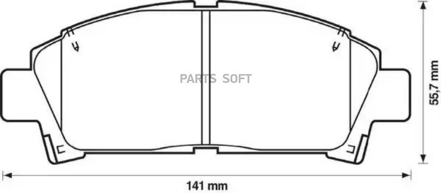 Колодки тормозные передние TOYOTA CARINA E