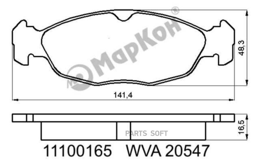 Колодки тормозные дисковые Opel, Daewoo, Jaguar