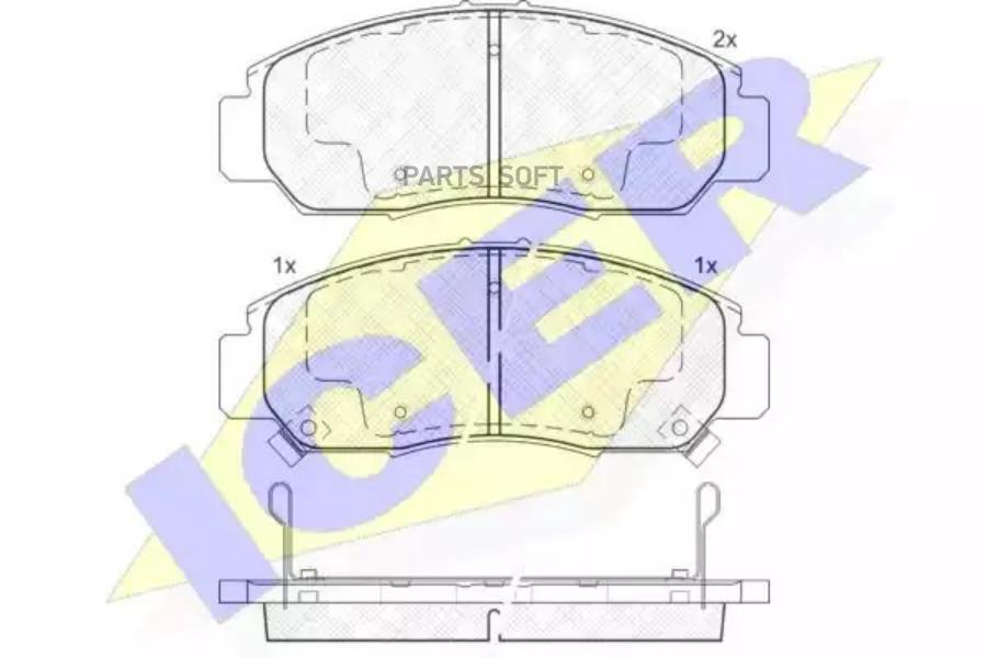Колодки дисковые передние