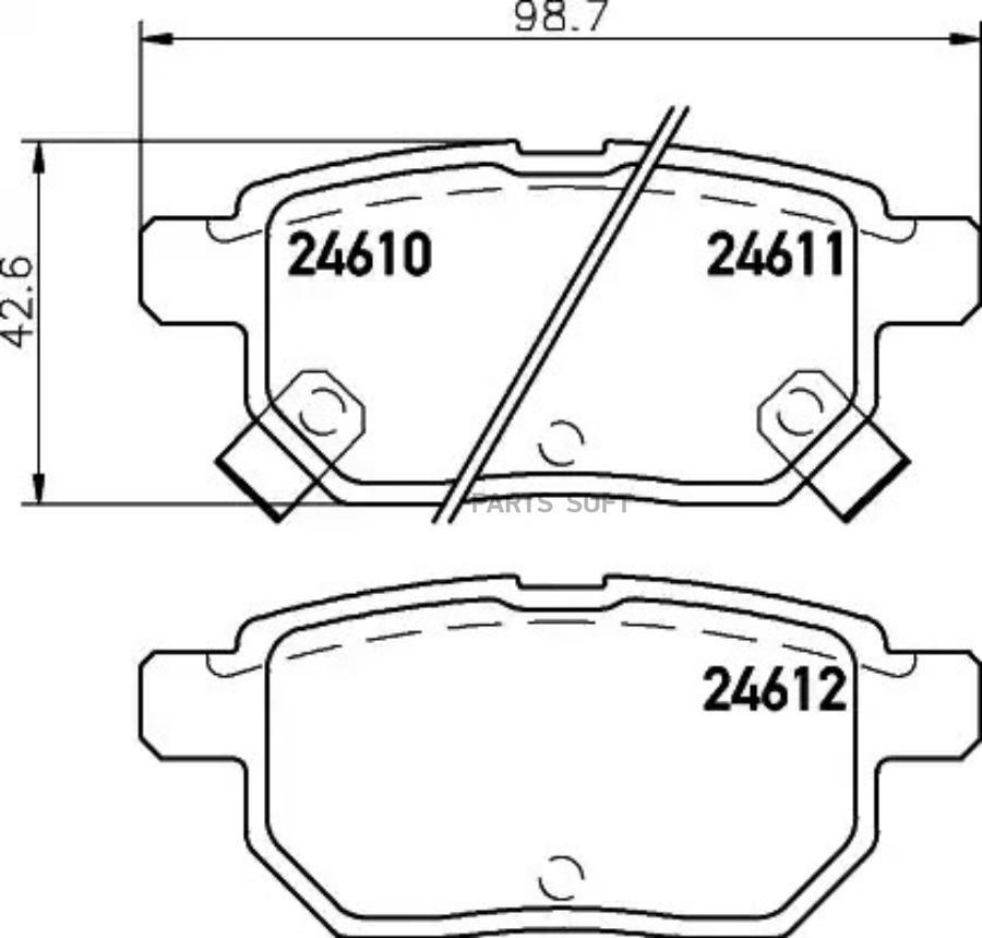 Колодки тормозные дисковые зад (PF-1519)