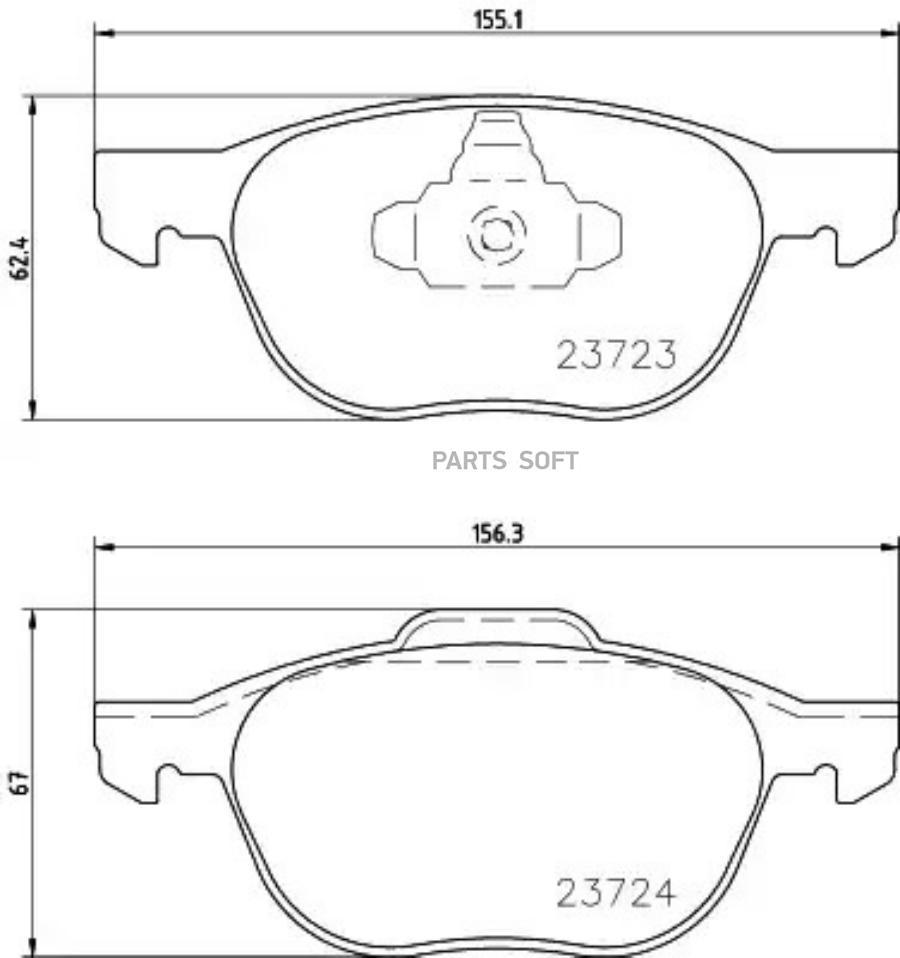 Колодки тормозные дисковые перед (PF-5507)