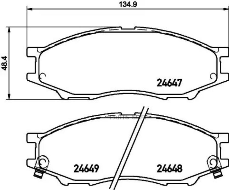 Колодки тормозные дисковые перед (PF-2435)