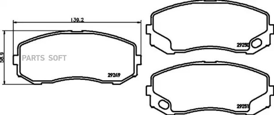 Колодки тормозные дисковые перед / зад (PF-3513)