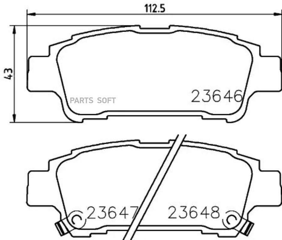 Колодки тормозные дисковые зад (PF-1449)