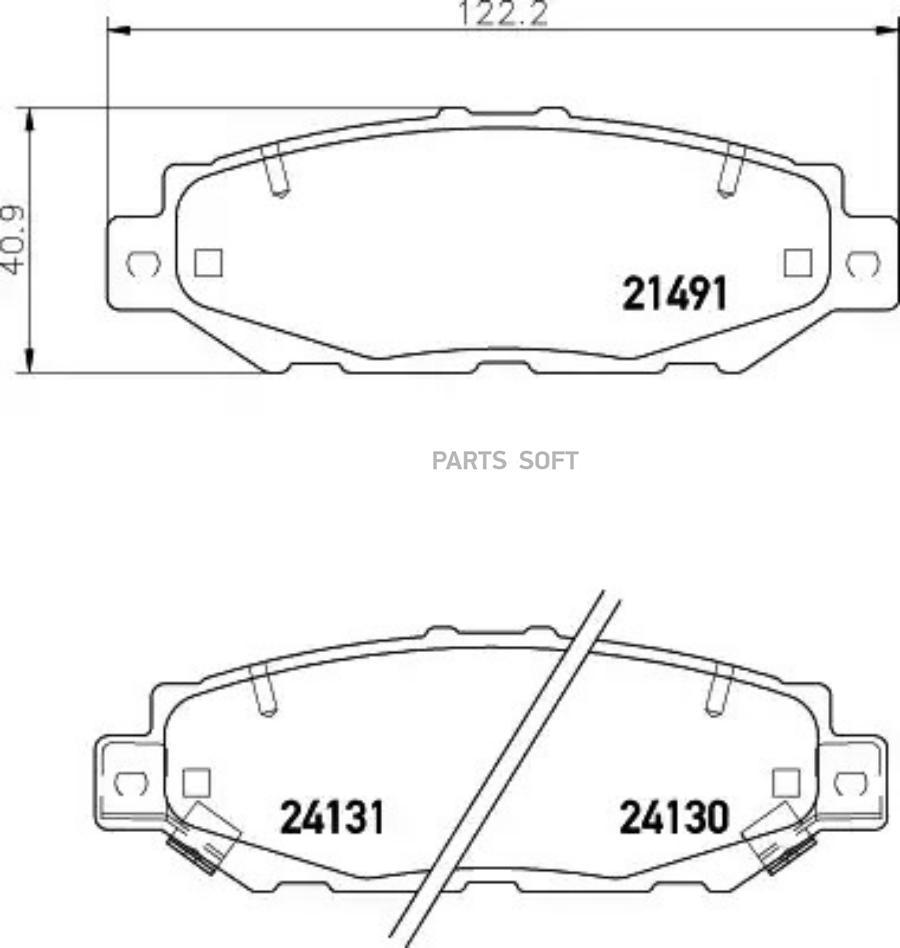 Колодки тормозные дисковые зад (PF-1363)