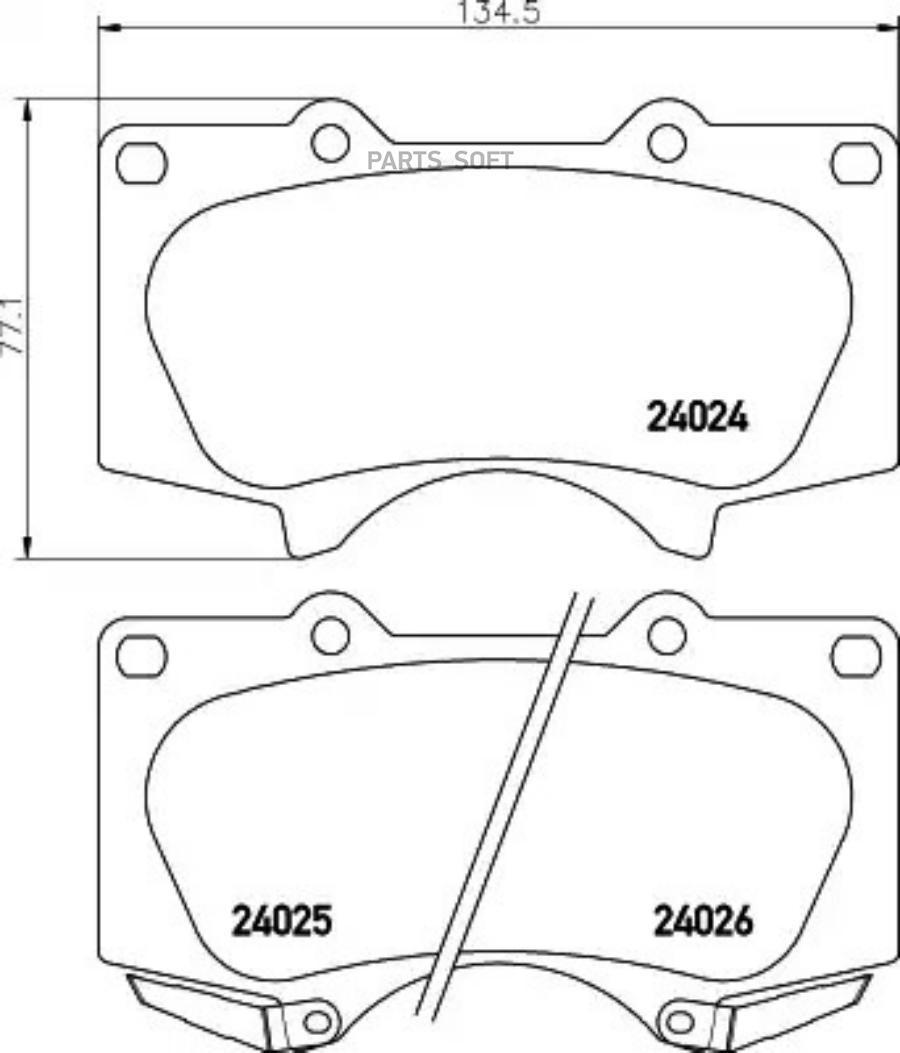 Колодки тормозные дисковые перед (PF-1482)