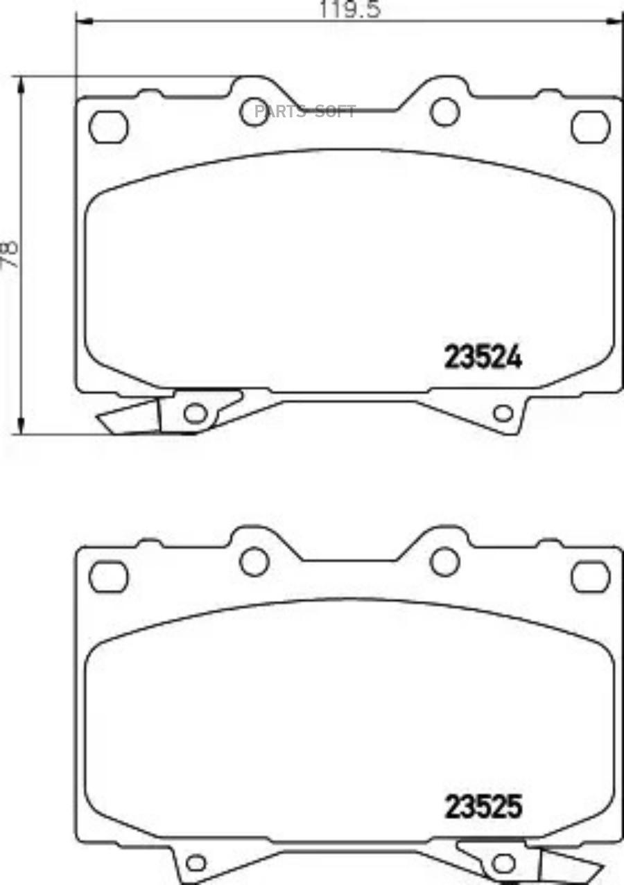 Колодки тормозные дисковые перед (PF-1411)