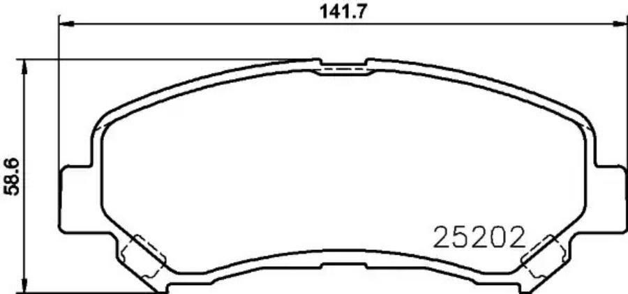Колодки тормозные дисковые перед (PF-2546)