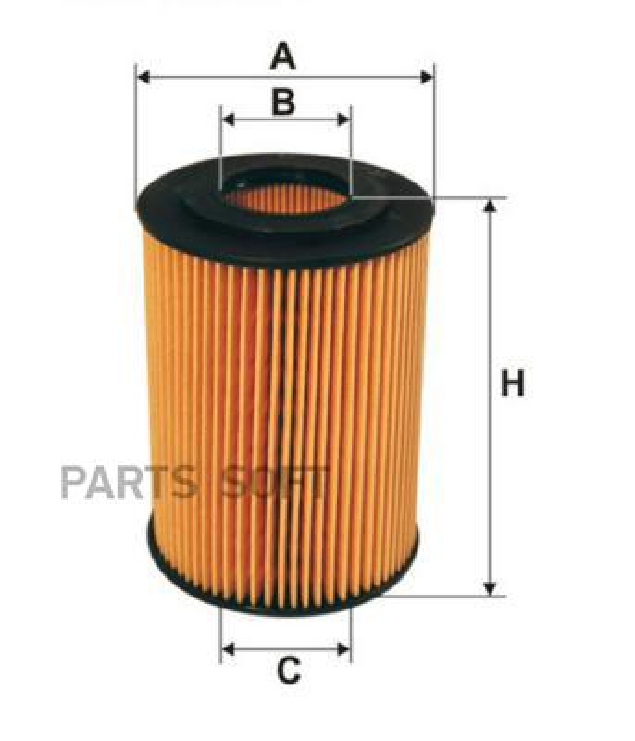 Фильтр масляный (вставка) MB SPRINTER 906 3.0D, W204, W211, W164, W25 | CHRYSLER 300C 3.0D