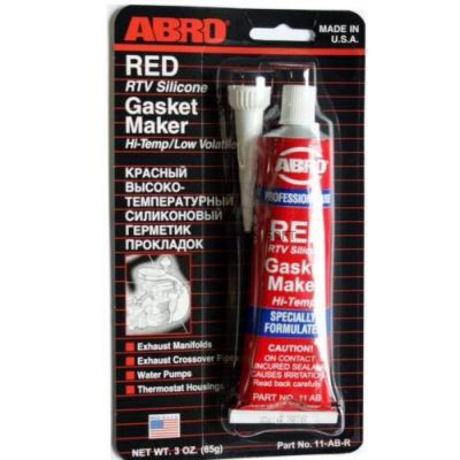 Герметик прокладка abro 11ab силик.красный 85 г.