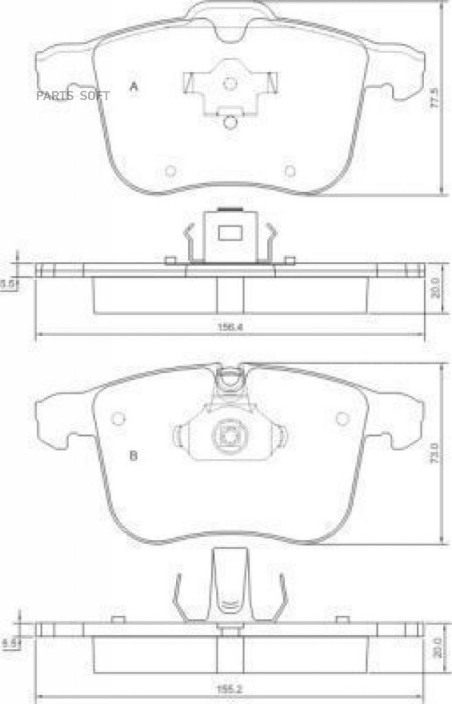 Тормозные колодки передние SAAB 9-3 | OPEL SIGNUM | OPEL VECTRA C