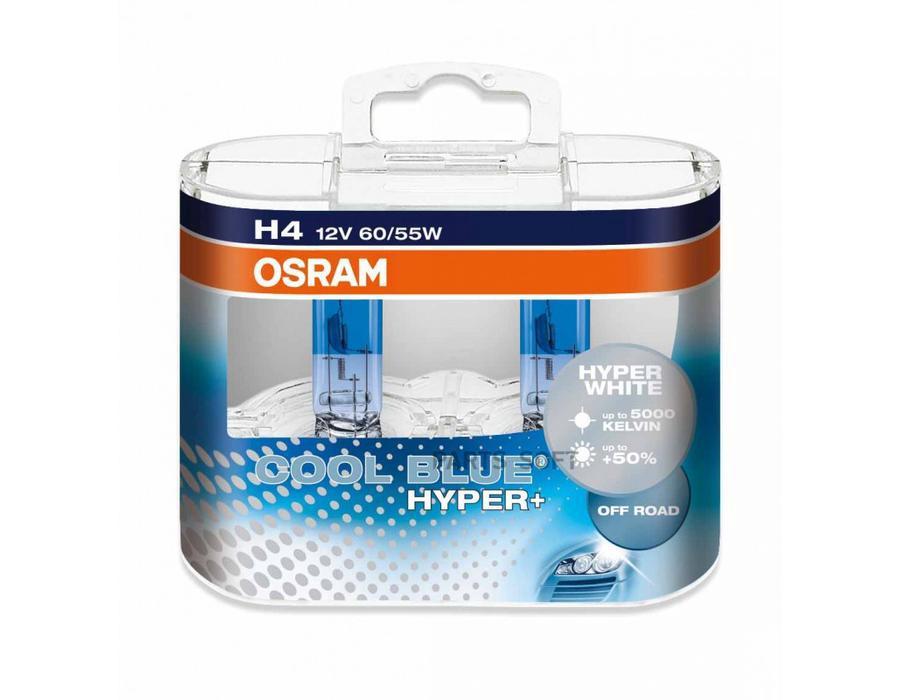 Лампа H4 60/ 55W 12V P43T Cool Blue Hyper 5000K - (2шт)