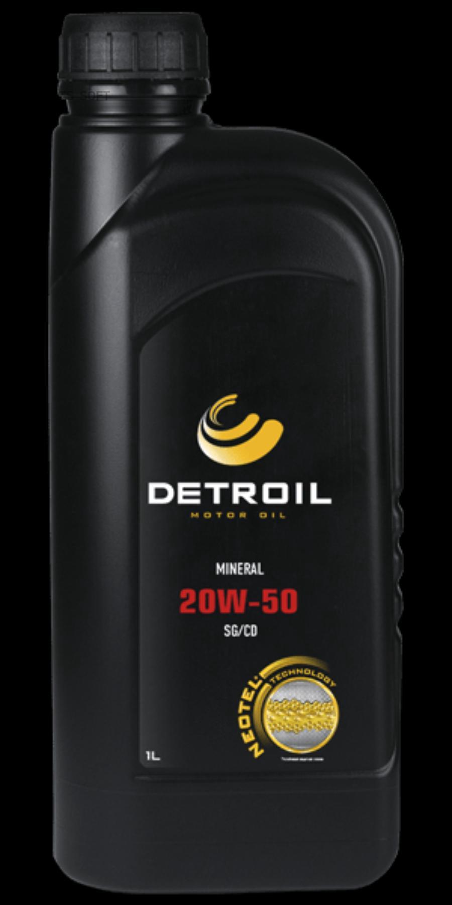 Моторное масло DETROIL 20W-50 (1л.) минеральное SG/CD