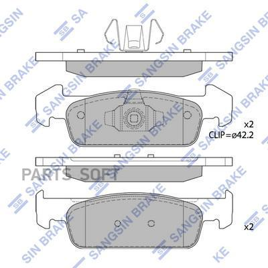 Колодки тормозные передние RENAULT c 8 кл. двиг.
